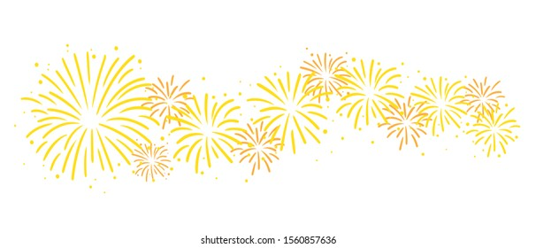 Beautiful Firework Silhouette Vector Graphic Clipart