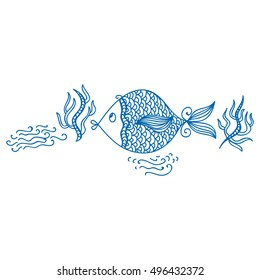 Beautiful fish. Vector illustration.