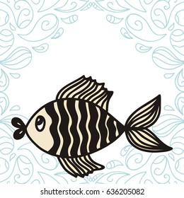 Beautiful fish. Vector illustration.