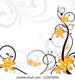 beautiful floral background with flowers for design