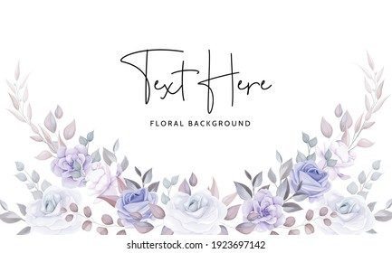 Beautiful floral background with soft purple flowers