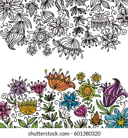 Beautiful floral background. Vector illustration.