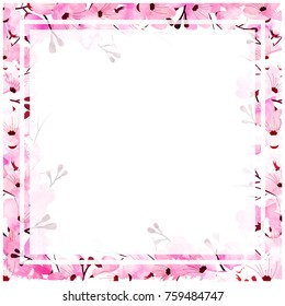 Beautiful floral design decorated circular frame and space for your text.
