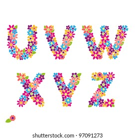 Beautiful floral letters. Part 4