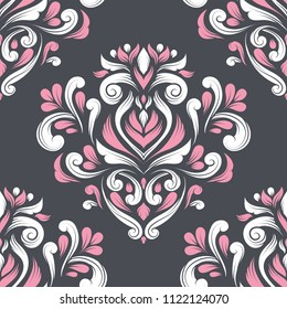 Beautiful floral seamless pattern. Vintage vector, paisley elements. Traditional, Turkish, Indian motifs. Great for fabric and textile, wallpaper, packaging or any desired idea.