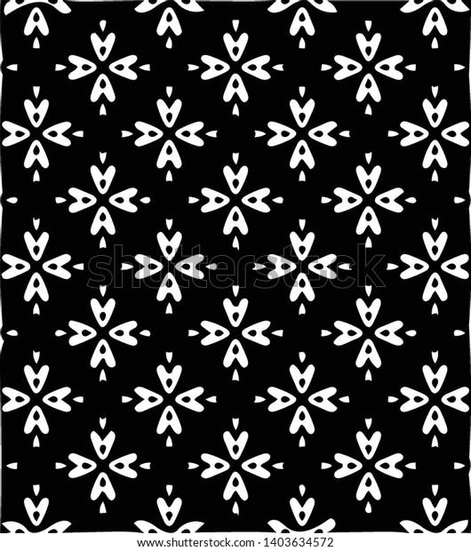 Beautiful Floral Wallpaper Tile Vector Patter Stock Vector