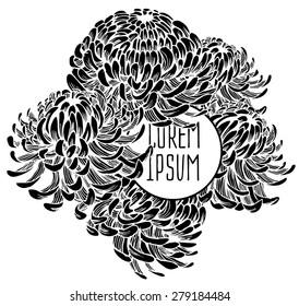 Beautiful flower background art. Decorative floral elements