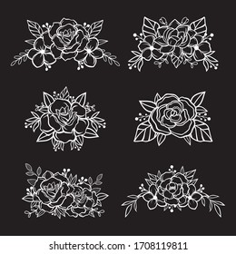 Beautiful Flower Cut File Elements