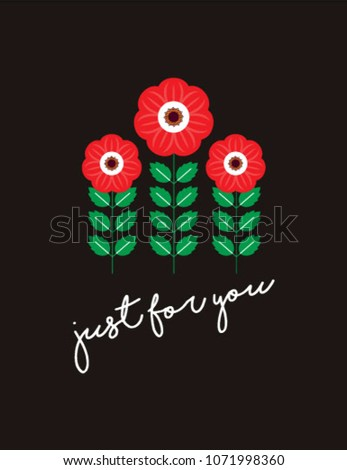 Beautiful flower just you greeting card stock vector royalty free beautiful flower just for you greeting card vector beautiful floral unique happy birthday greeting card m4hsunfo