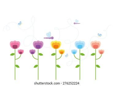 Beautiful flowers garden vector