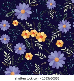 beautiful flowers pattern background