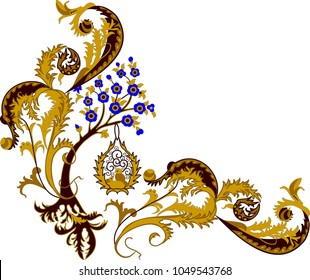 beautiful folk art. floral.