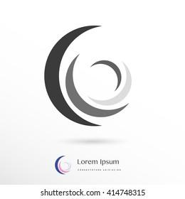 beautiful four element corporate logo / icon