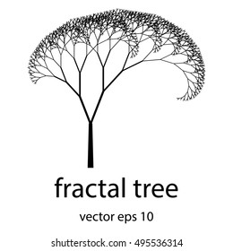 Beautiful fractal tree vector illustration.Perfect for background,presentations,logo.