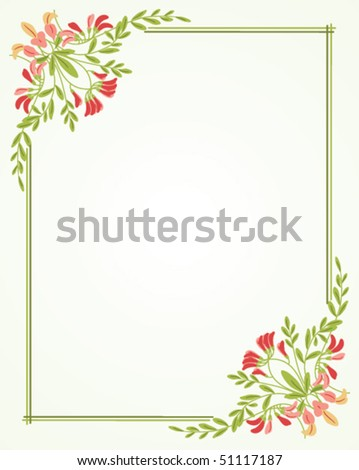 Beautiful Frame Flowers Stock Vector (Royalty Free) 51117187 ...