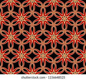 Beautiful geometric ornament. seamless art-deco pattern. vector illustration. for design, wallpaper, invitation.