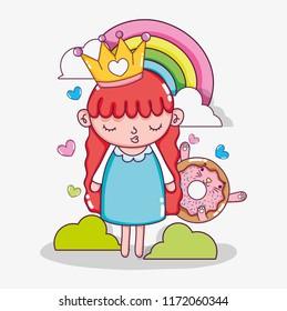 Beautiful girl cartoon