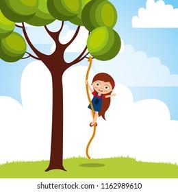 Child Climbing Tree Stock Illustrations Images Vectors Shutterstock