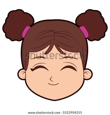 of Cartoon girl face