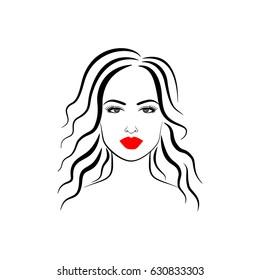 Beautiful girl, hairstyle, make-up