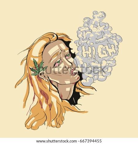 girl high weed