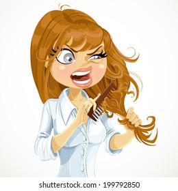 Combing Hair Cartoon Images Stock Photos Vectors Shutterstock