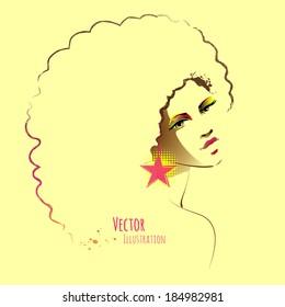 Beautiful girl. Vector illustration.
