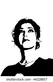 Beautiful girl vector silhouette