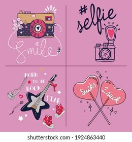 beautiful girlish graphic, for woman clothes, posters, wall art, summer t-shirts, sweatshirts, hoodies etc.