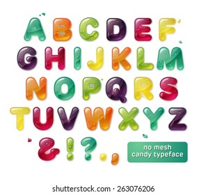 beautiful glance candy alphabet
