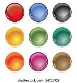Beautiful glossy balls / vector illustration