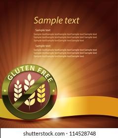 Beautiful gluten free design. Golden ribbon, harmonic and bright color combination.
