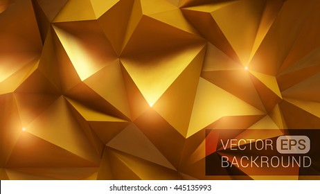 Beautiful gold abstract background with geometric shapes.