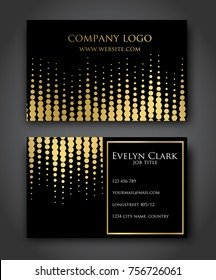 Beautiful gold-black business card template VECTOR