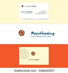 Beautiful Golfball  Logo and business card. vertical Design Vector