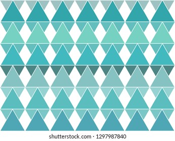 Beautiful gradient blue color triangle or polygon background in minimal and modern trendy geometric concept. Vector art pattern graphic design for wallpaper, textile, printed with vintage retro style.