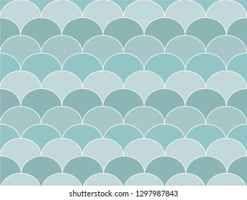 Beautiful gradient blue color wave or curve background in minimal and modern trendy geometric concept. Vector art pattern graphic design for wallpaper, textile, printed with vintage retro style.