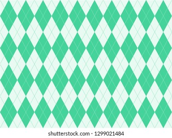 Beautiful gradient green color triangle or polygon background in minimal and modern trendy geometric concept. Vector art pattern graphic design for wallpaper, textile, printed with vintage retro style
