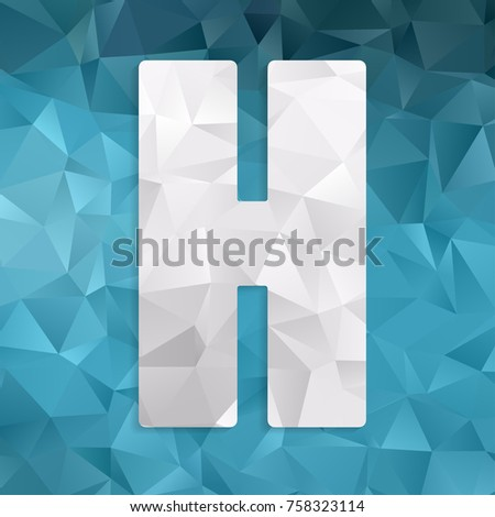 Beautiful Graphic Low Poly Alphabet Letter Stock Vector Royalty