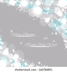 Beautiful gray background with sparkles .Vector  illustration