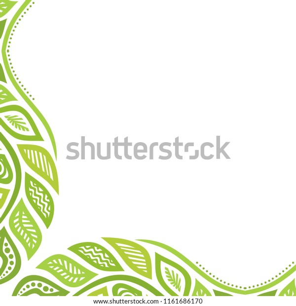 Beautiful Green Nature Background Leaves Vector Stock Vector