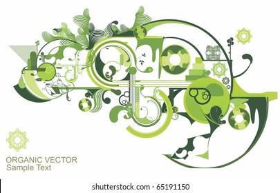 beautiful green vector design