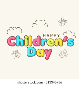 A beautiful greeting card of children's day celebration.