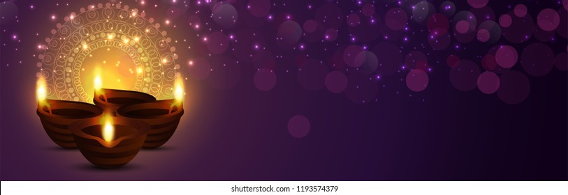 Beautiful greeting card for Diwali festival. Happy Diwali festival sale banner & background illustration. Diwali illustration for Diwali festival celebration in India.