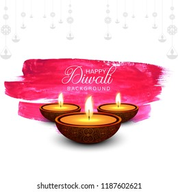 Beautiful greeting card for festival diwali background