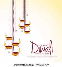 Beautiful greeting card for festival of diwali celebration.
