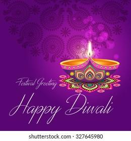 Diwali images stock photos vectors shutterstock beautiful greeting card for hindu community festival diwali happy diwali festival background illustration diwali m4hsunfo