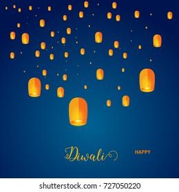 Beautiful greeting card for Hindu community festival Diwali / Happy Diwali festival background illustration / Diwali best offer