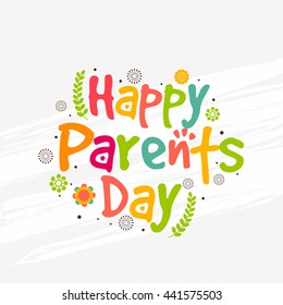 A beautiful greeting card,banner or poster for Parents day.