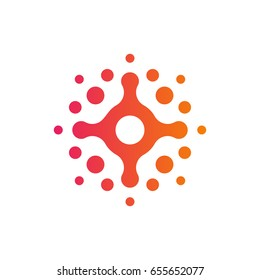 Beautiful Halftone Logo Template Design